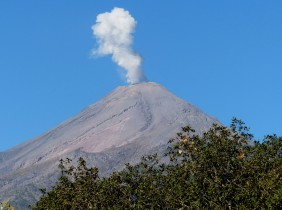 Volcan del Fuego blowing off some steam!